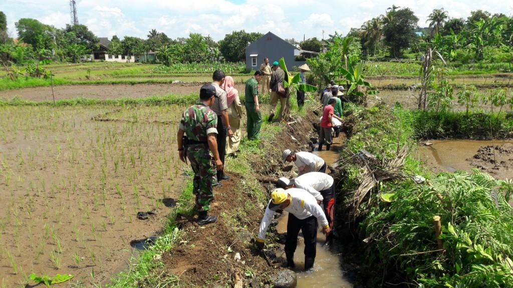 Bhabinkamtibmas Balumbang Jaya Ikut Kawal Program Padat Karya Warga