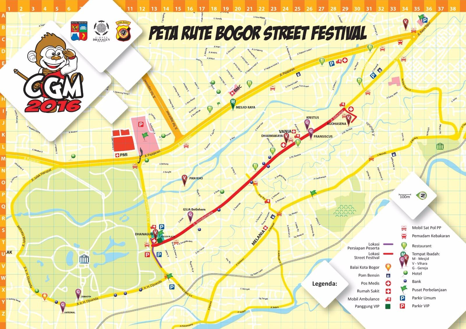 5659fc9950d Rute Cap Go Meh Bogor Street festival 2016
