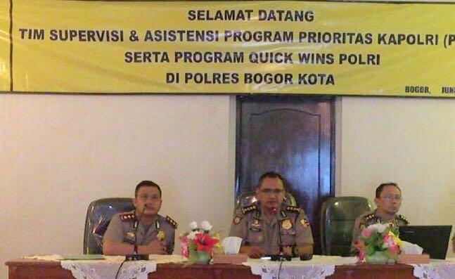 Kapolres Bogor Kota dampingi Tim Supervisi dari Baharkam Mabes Polri. Dok. Humas Polres Bogor Kota