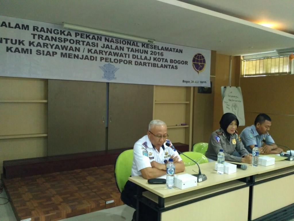 DLLAJ Dan Satlantas Polres Bogor Kota, Gelar Pelatihan Bagi Anggota DLLAJ  Kota Bogor