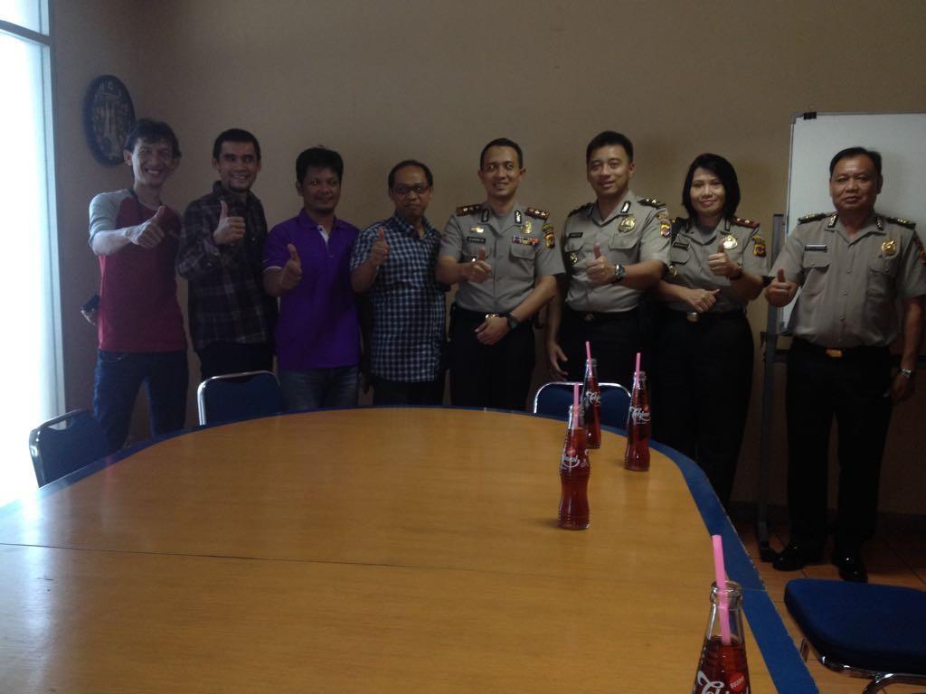Perkenalkan diri dan silaturahmi, Kapolres Bogor Kota sambangi Radar Bogor Group. Dok. Humas Bogor Barat.